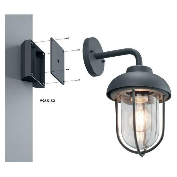 TRIO 9965-32 kültéri fali lámpákhoz sarokra szerelhető konzol - 1