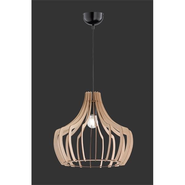 TRIO R30253830 Wood 60W E27 fa függesztett lámpatest - 1