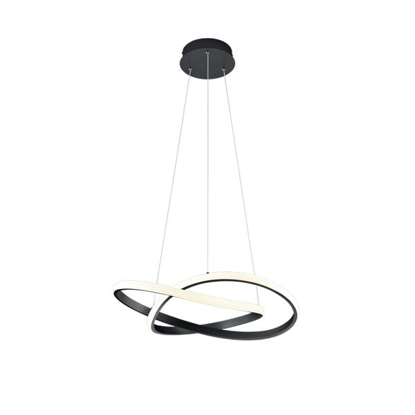 TRIO R32051132 Course fekete fényerőszabályzós LED mennyezeti lámpa - 1