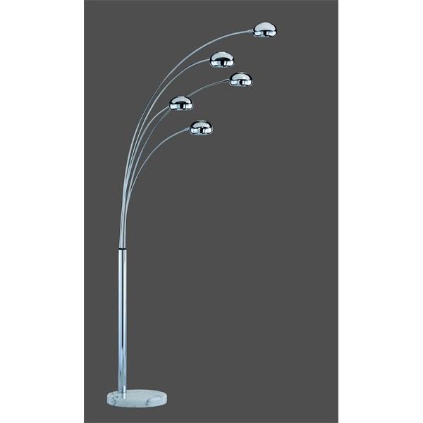 TRIO R4615-06 Five Fingers 40W E14 króm álló lámpatest - 1