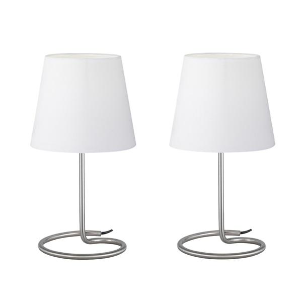 TRIO R50272001 Twin 40W E14 nikkel asztali lámpatest - 1