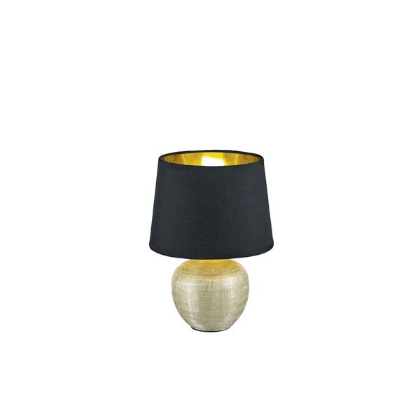 TRIO R50621079 Luxor 18 cm átmérő, fekete asztali lámpa - 1