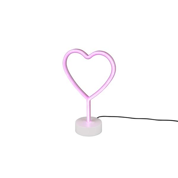 TRIO R55210101 Heart 30,5 cm USB asztali lámpa - 1