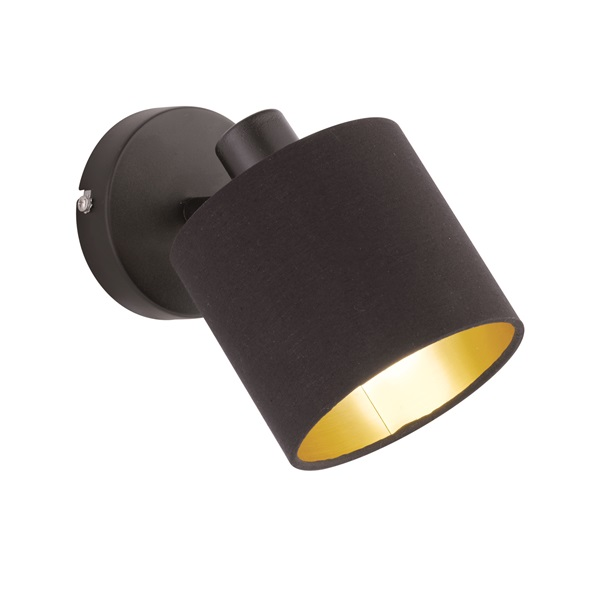 TRIO R80331079 Tommy fekete 1-es fali spot lámpa - 1
